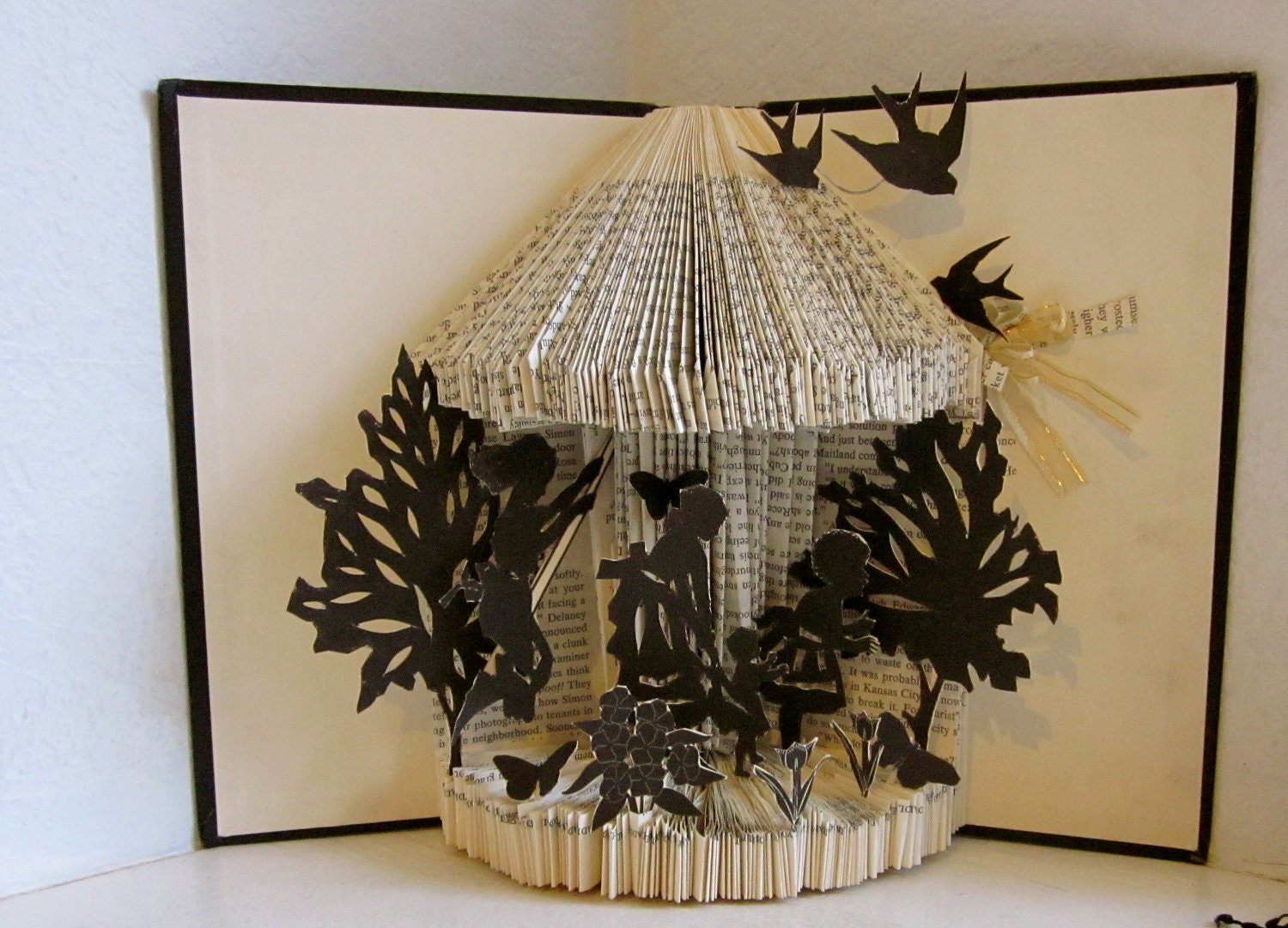 Altered book sunday silhouettes for Books with art projects