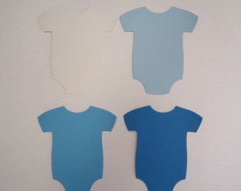 4 Large Bodysuit Onesie Die Cuts for Scrapbooking and Paper Crafts - Choose Colour