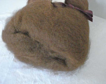 MARKED DOWN - Natural Dark Brown Alpaca Batt- 4.5 ounces