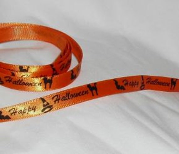 "Happy Halloween Ribbon...3/8"" X 5 yards"
