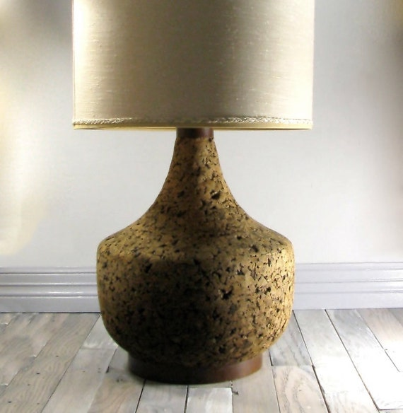 1960s Cork Table Lamp