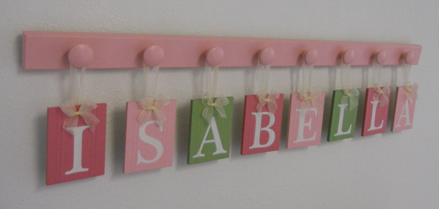 baby name letters hanging sign for nursery includes wood With hanging baby name letters