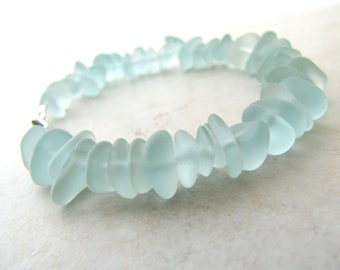 Seaglass Sea Glass Bracelet Aqua Sea Foam Small  BellinaCreations Bellina Creation