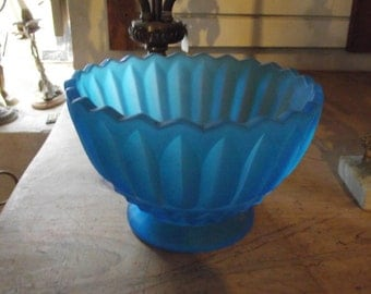 Turquoise glass Bowl, 50% off!
