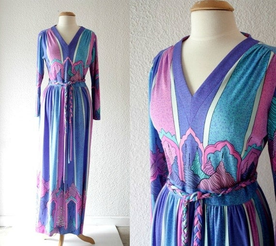 1960s Maurice Saks Maxi Dress