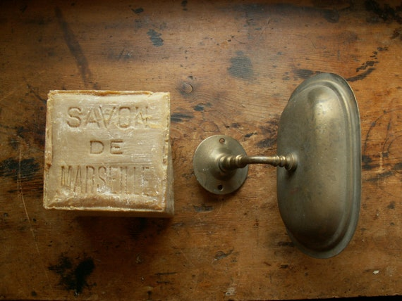 Vintage Brass Wall Mount Soap Dish