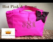 Personalized Monongrammed Insulated Lunch Tote 26 Tote Colors to Choose From