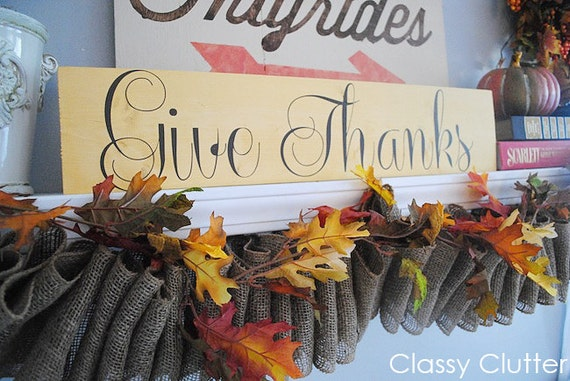 Fall or Thanksgiving GIVE THANKS vinyl decal