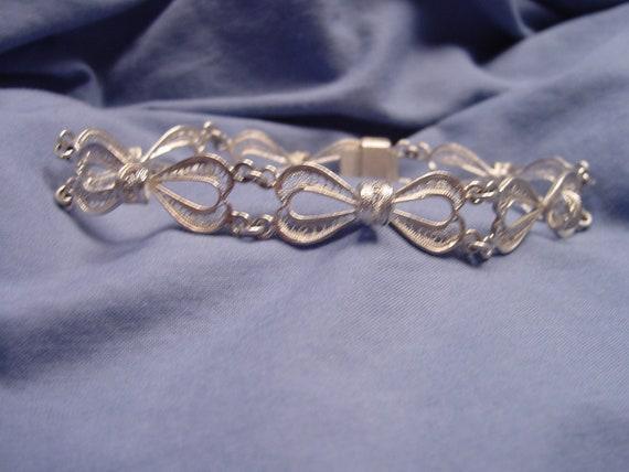 Solid Sterling Silver filigree bracelet