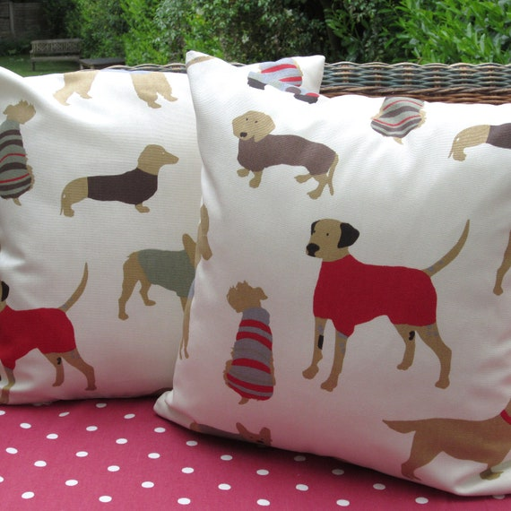 Decorative Dog Themed Pillows : Dog Themed Pillow Covers Cushion Covers 16 by AllTheTrimmingsUK