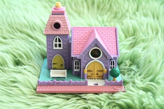 polly pocket chapel, bluebird original, 90s