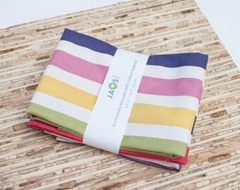 Large Cloth Napkins - Set of 4 - (N1249) - Stripes Modern Reusable Fabric Napkins
