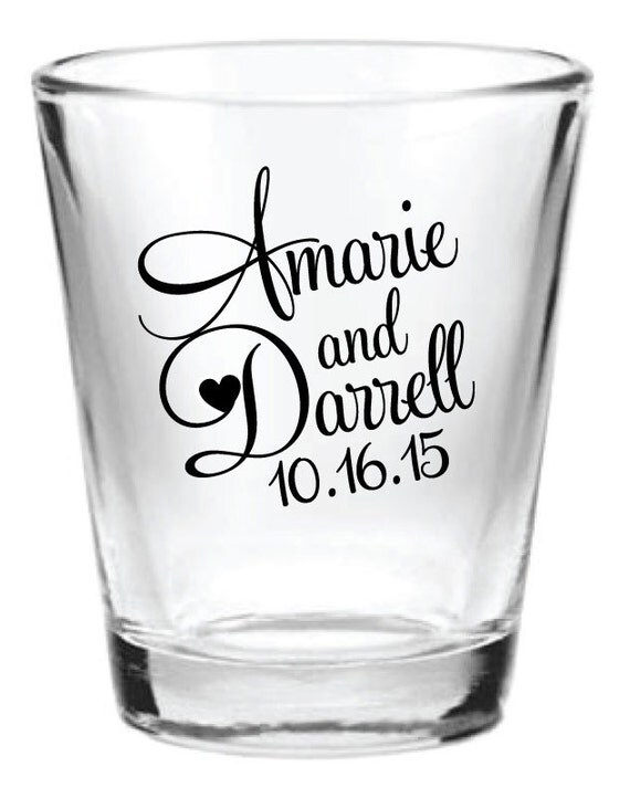 ... 5oz Wedding Favors Glass Shot Glasses Custom NEW 2014 Wedding Designs