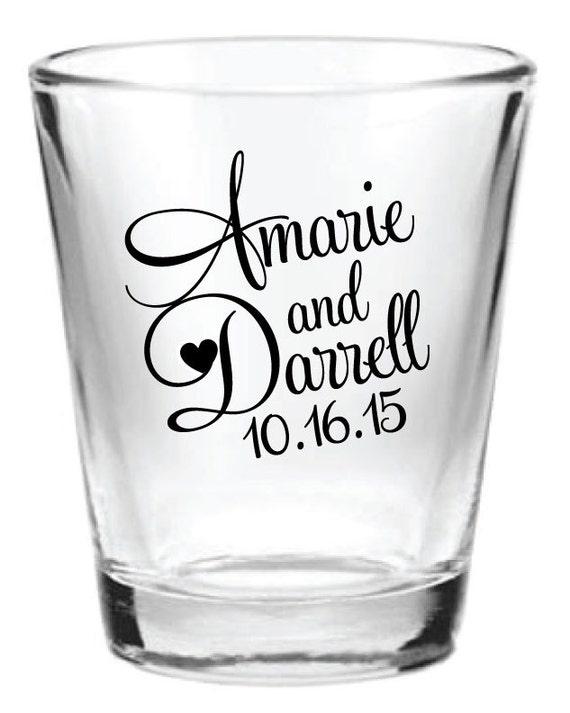144 personalized 1 5oz wedding favors glass shot glasses custom new
