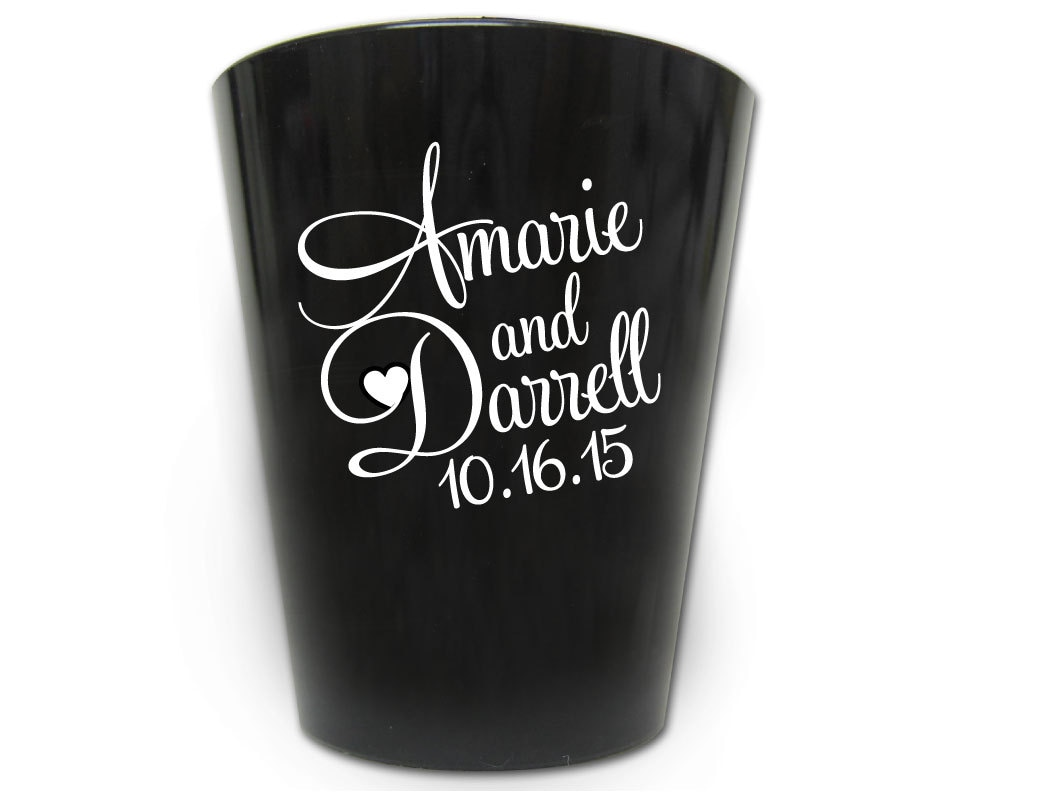 Wedding Gifts Glasses Personalized : 150 Wedding Favors Personalized Plastic Shot Glasses New 2017