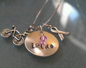 Breast Cancer Awareness Sterling Charm Necklace - CANECK05