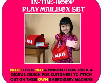 Felt Mail Play Set Designs for Embroidery machines