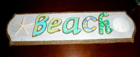 Lilly Pulitzer Beach Sign