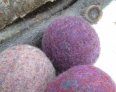 Set of 8  Wool Dryer Balls, plummy purples Free Shipping In USA