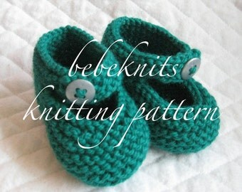 Bebeknits Ankle Button Baby Bootie Knitting Pattern