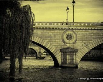 """Paris Photography of the Seine River - """"On the Seine"""" Paris Prints -  Paris France - French Decor - Fine Art Print Photography"""
