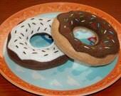 Felt Food Doughnuts - Felt Doughnut Donut Pair