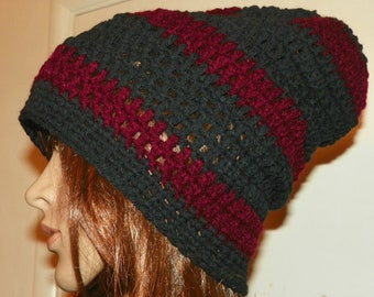 Black and Red Slouch Hat