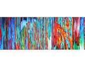 Large Abstract Beast  Color 1 - 10x30 one of a kind acrylic painting