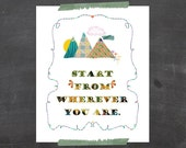 Poster PRINT Typography Wall Art, Typography Poster, Inspirational Archival Wall Art PRINT, Typography Poster