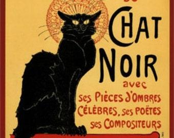 Chat Noir - Cross stitch pattern pdf format