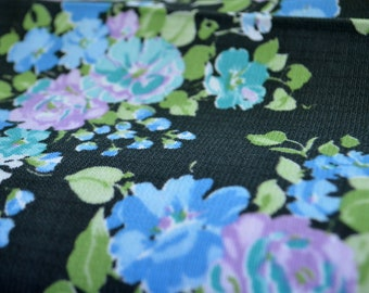 Vintage Charcoal Floral Cotton Fabric