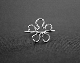 Flower Power Ring Sterling Silver