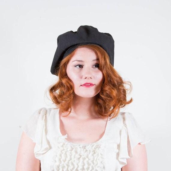 vintage 1960s hat / beret / Ribbed Slouch