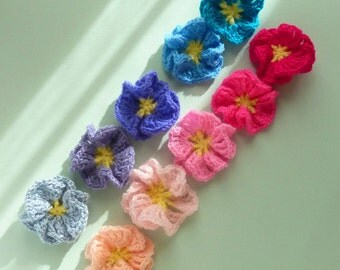 Crochet Pattern Flower Amelie - Easy beginner PDF - PHOTO TUTORIAL crochet instructions - Flower crochet  pattern - Instant Download
