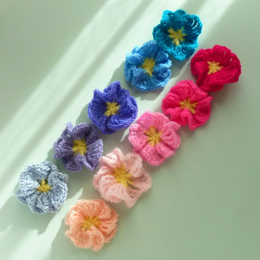 Crochet Pattern Flower Amelie Easy beginner PDF PHOTO by bySol