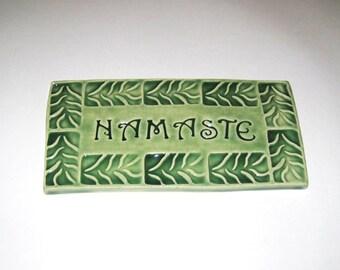 Ceramic Namaste Tile Celadon Green