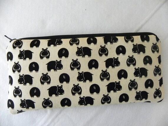 Hippos long zipper Pencil Case
