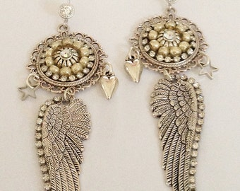 Boho Chic Long Wing Earrings