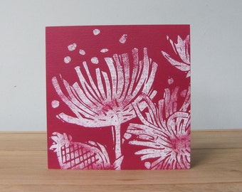 Card English Country Garden in Red