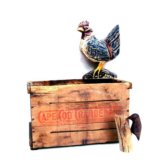 Vintage Wood Box Farm Crate Cape Cod By OceansideCastle On