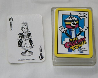 Vintage Souvenir / Calgary Tower Miniature Playing Cards