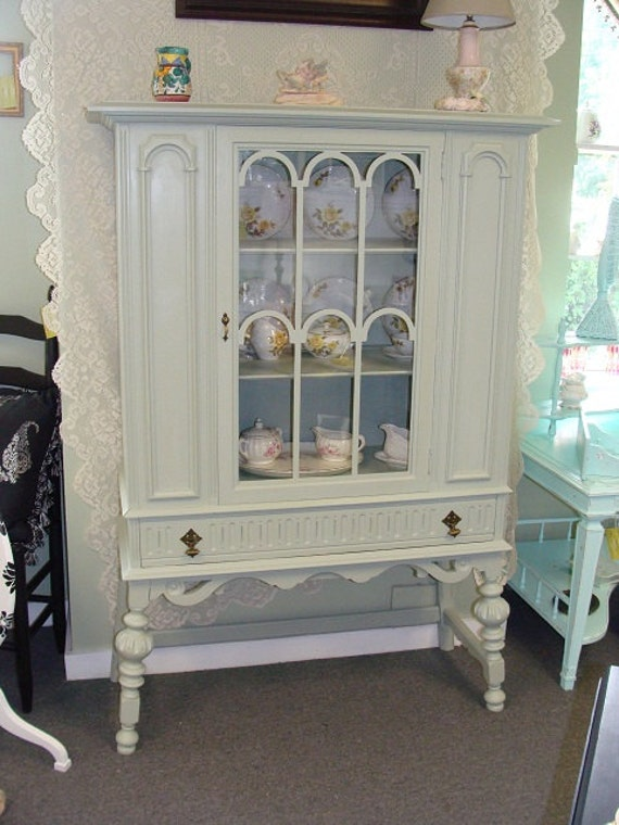 New Price Painted Curio Cabinet China Cabinet