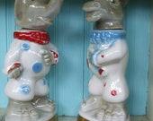 Elephant Donkey Jim Beam Bottles Bar Ware Regal China Donkey Elephant