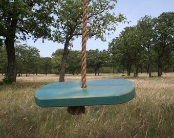 Single Rope Blue Tree Swing