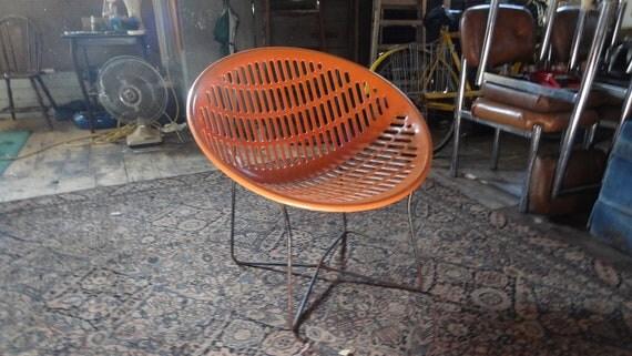 Vintage 1960s Orange Fabiano Panzini Solair Molded Plastic