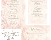 Ana's Spring Wedding in Watercolor Invitation Suite Custom for you