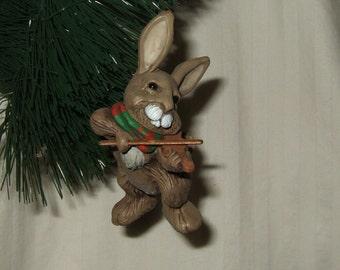 Vintage Hallmark Christmas Ornament  Hallmark Friendly Fiddler  1981 Rabbit with Fiddle Christmas ornament