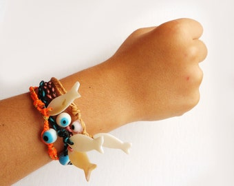 CHILDREN'S Greek Evil Eye Swim and Surf Bracelet