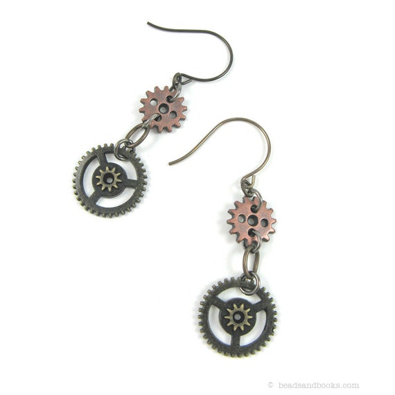 Steampunk Earrings (Gear Earrings)