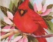 Cardinal - Bird Art Print - Watercolor Print